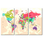 Dekorative Pinnwand Geography of Colours [Cork Map] 92221 additionalThumb 1