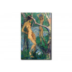 Reproduction Painting Girl and boy at the forest pond 112651