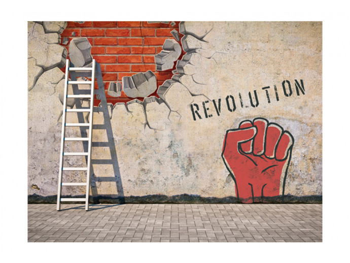 Wall Mural The invisible hand of the revolution 60751 additionalImage 1