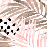 Modern Wallpaper Pink Palm Leaves 114661 additionalThumb 2