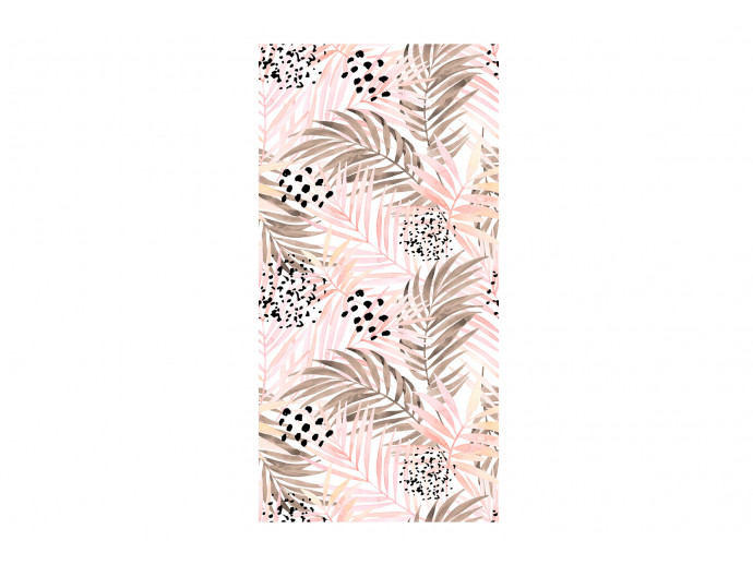 Modern Wallpaper Pink Palm Leaves 114661 additionalImage 1