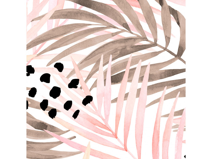 Modern Wallpaper Pink Palm Leaves 114661 additionalImage 2