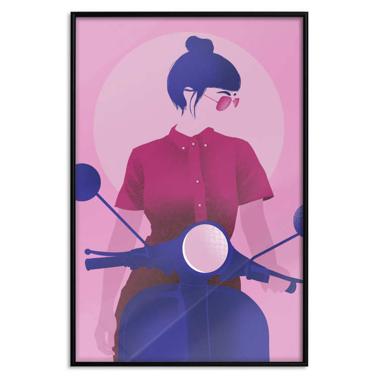 Girl on Scooter [Poster]