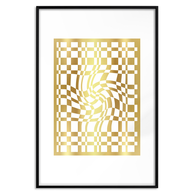 Distorted Chessboard [Deco Poster - Gold]