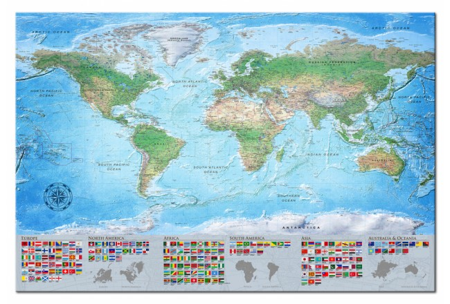 Decorative Pinboard World Map: Blue Planet [Cork Map] 98061 additionalImage 1