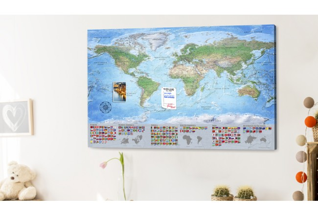 Decorative Pinboard World Map: Blue Planet [Cork Map] 98061 additionalImage 2