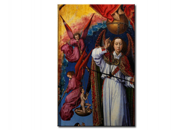 Quadro famoso Archangel Michael weighing souls 109371