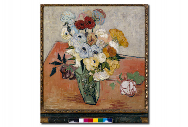 Art Reproduction Stilllife with Japanese vase, roses and anemones 52381