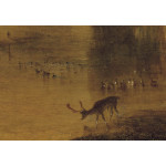 Reproduction Painting The Lake, Petworth: Sunset, a Stag Drinking 52881 additionalThumb 1