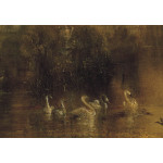 Reproduction Painting The Lake, Petworth: Sunset, a Stag Drinking 52881 additionalThumb 2