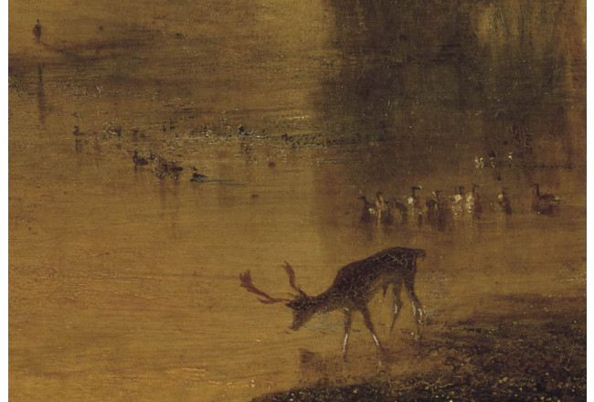 Reproduction Painting The Lake, Petworth: Sunset, a Stag Drinking 52881 additionalImage 1