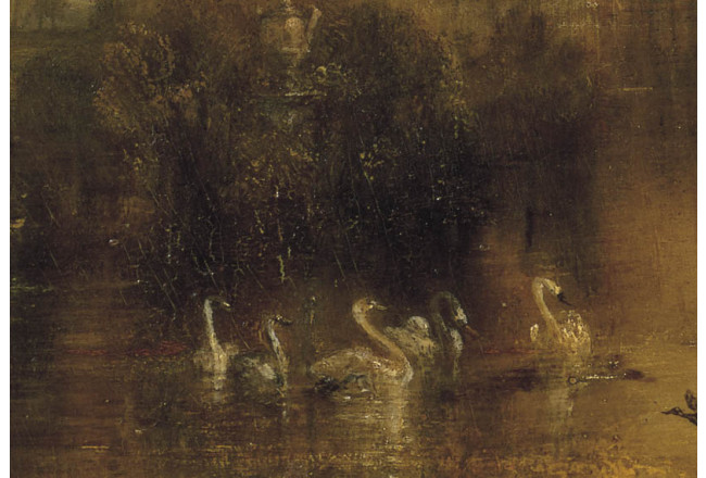 Reproduction Painting The Lake, Petworth: Sunset, a Stag Drinking 52881 additionalImage 2