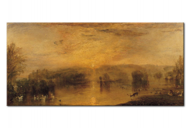 Reproduction Painting The Lake, Petworth: Sunset, a Stag Drinking 52881