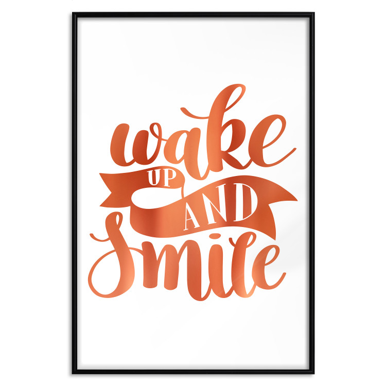 Wake up and Smile [Deco Poster - Copper]