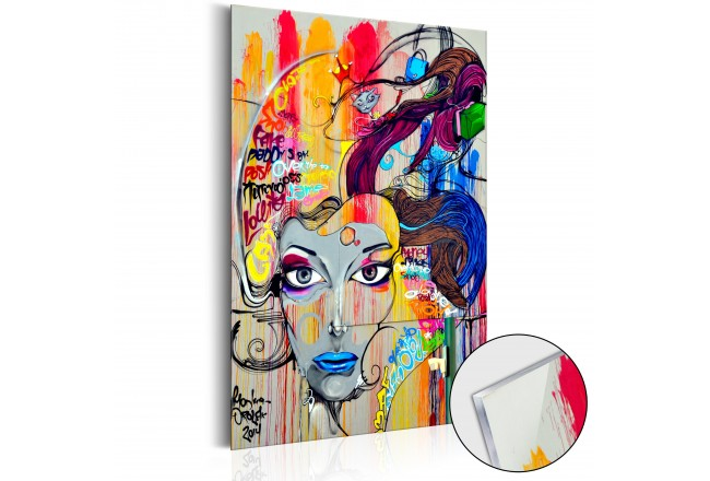 Quadro in vetro acrilico Colourful Thoughts [Glass] 92491