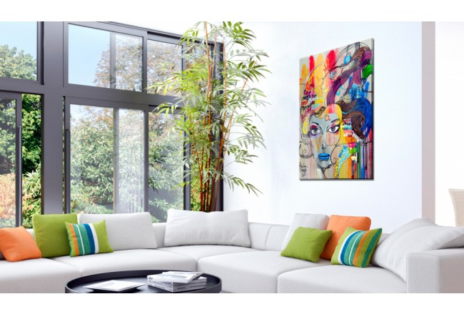 Quadro in vetro acrilico Colourful Thoughts [Glass] 92491 additionalImage 2