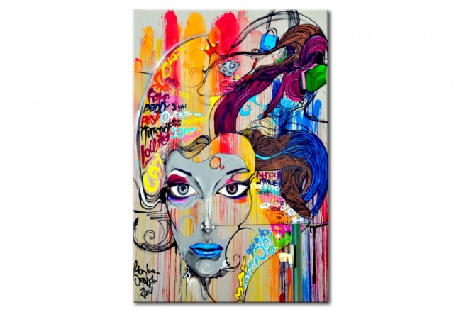 Quadro in vetro acrilico Colourful Thoughts [Glass] 92491 additionalImage 1