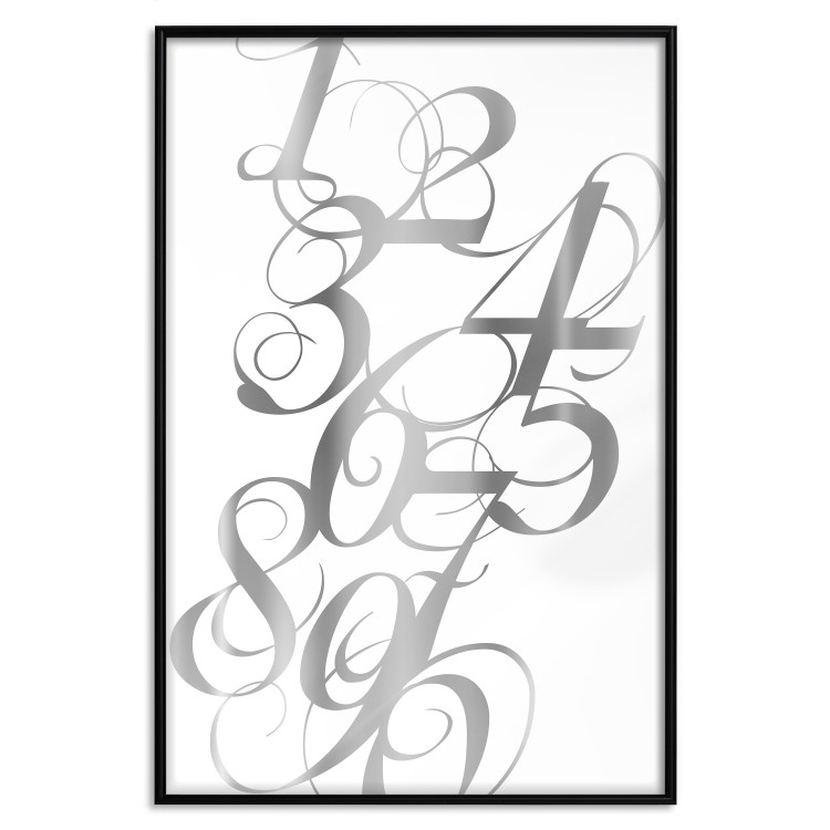 Calligraphy of Numbers [Deco Poster - Silver]
