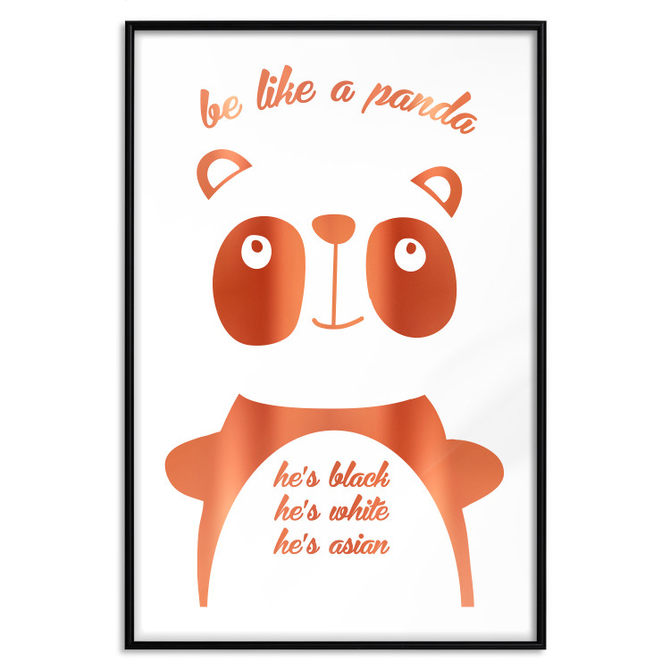 Be Like a Panda [Deco Poster - Copper]