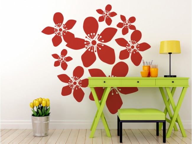 Autocollant mural Floral design 56912 additionalImage 2