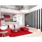 Modern Wallpaper Black stripes 89212 additionalThumb 2