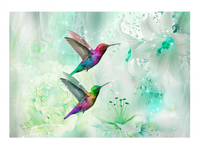 Wall Mural Colourful Hummingbirds (Green) 107622 additionalImage 1