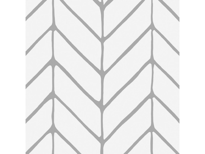 Modern Wallpaper Harmony of Patterns (Grey) 122632 additionalImage 2
