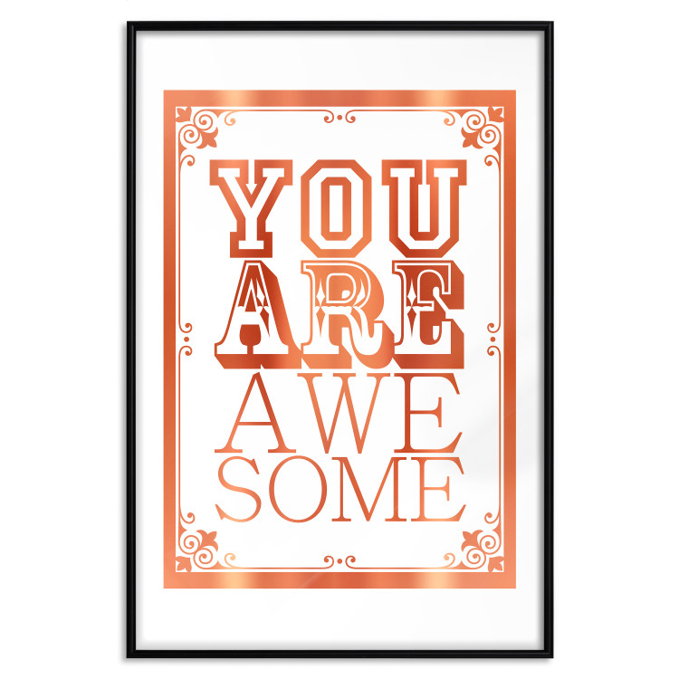 You Are Awesome [Deco Poster - Copper]