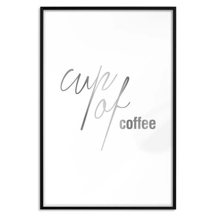 Cup of Coffee [Deco Poster - Silver]