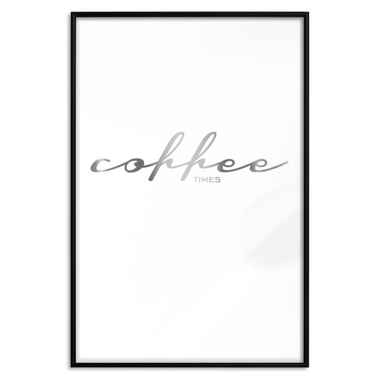 Coffee Times [Deco Poster - Silver]