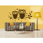 Sticker mural Owls couple 50152 additionalThumb 1