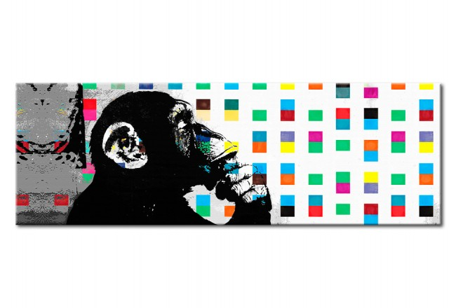 Décoration sur verre acrylique Banksy: The Thinker Monkey [Glass] 94552 additionalImage 1