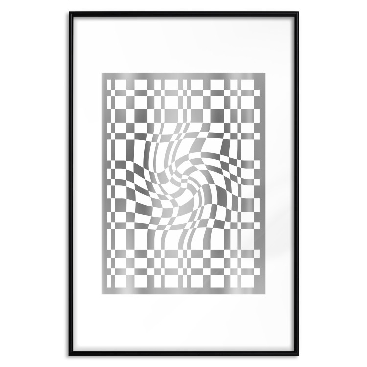 Distorted Chessboard [Deco Poster - Silver]