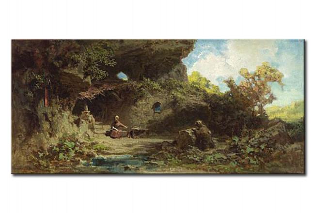 Tableau reproduction Un ermite dans les montagnes - Carl Spitzweg -  Reproductions