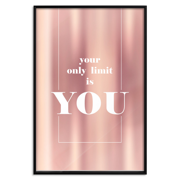 Your Only Limit Is You [Deco Poster - Rose Gold]