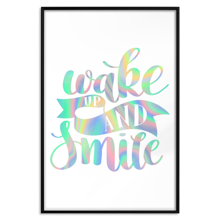 Wake up and Smile [Deco Poster - Holographic]