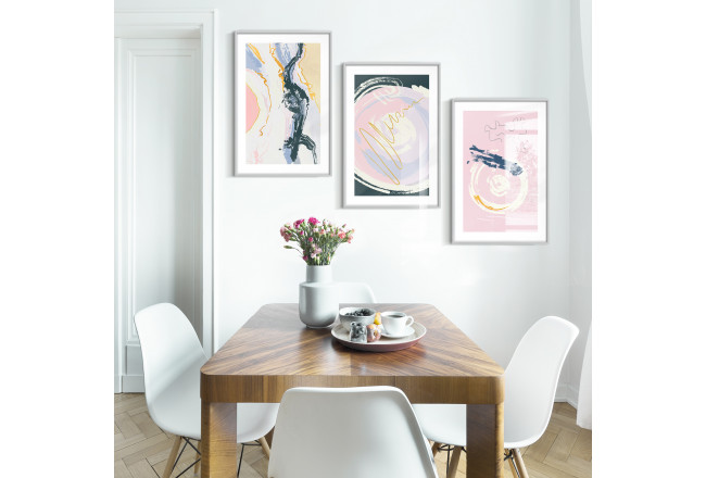 Posterset Pastell-Trio 129303