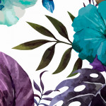 Modern Wallpaper Tropical Flowers (Turquoise) 108513 additionalThumb 2