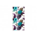 Modern Wallpaper Tropical Flowers (Turquoise) 108513 additionalThumb 1