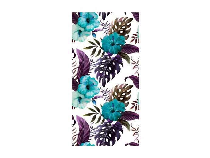 Modern Wallpaper Tropical Flowers (Turquoise) 108513 additionalImage 1