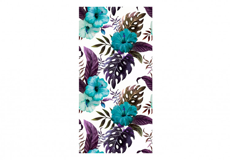 Tropical Flowers (Turquoise)