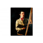 Self Portrait, Sitting next to an Easel 113613