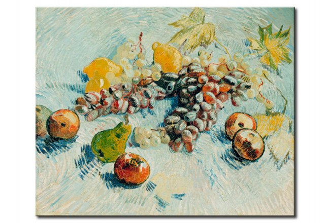 Reproduction Painting Grapes, Lemons, Pears and Apples 52313