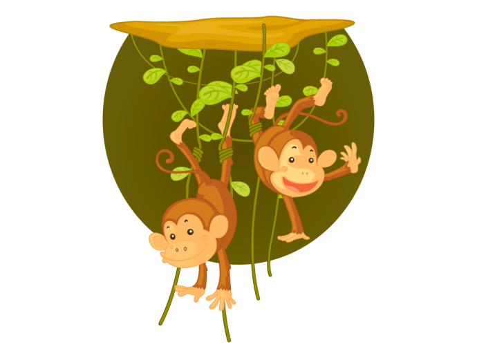 Wall mural Monkey business 90713