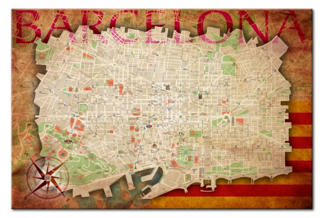 Map of Barcelona [Cork Map] 92213 additionalImage 1
