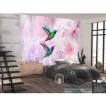 Fotomural Colourful Hummingbirds (Purple) 107623