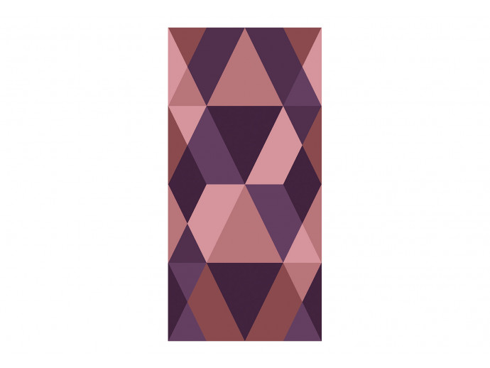 Papel pintado Triangles of Purple 123723 additionalImage 1