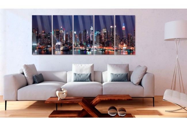 Print On Glass New York: Play of Lights [Glass] 104933 additionalImage 2