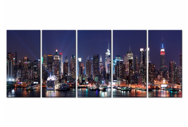 Print On Glass New York: Play of Lights [Glass] 104933 additionalImage 1