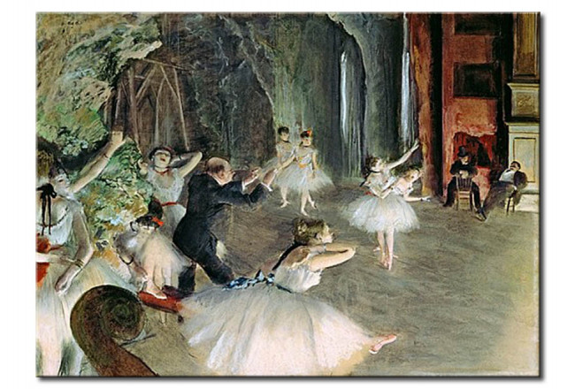 Art Reproduction The Rehearsal of the Ballet on Stage 51433